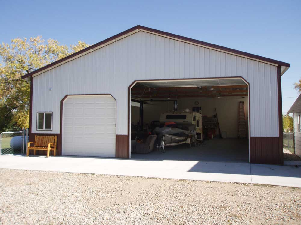 Why hansen pole buildings are perfect for your post frame for Garage column wrap
