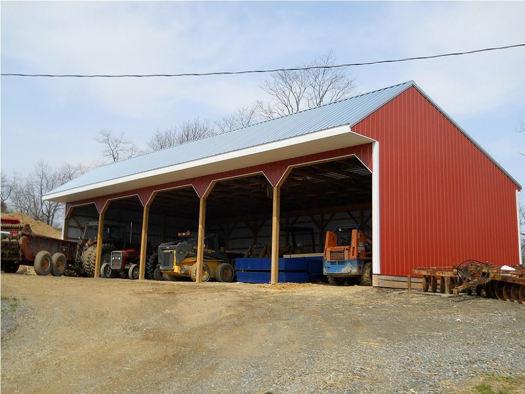 How much does a pole building cost pole barns for Pole garage pictures